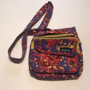 Blue and red rose Kavu bag
